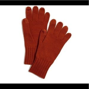 MADEWELL KNIT TEXTING GLOVES RUST OS NWT